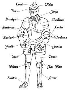The 'tank' of medieval warfare. Under this there would have been mail, padded gambeson, and underclothes. The full weight of just the plate would have ranged from dependant on the finishing and of course the bourse of the knight in question. Armadura Medieval, Fantasy Armor, Medieval Fantasy, Rpg Wallpaper, Medieval Knight Armor, Medieval Weapons, Templer, Landsknecht, Arm Armor