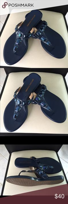 Sandals new Navy blue sandals New size 10 Shoes Sandals