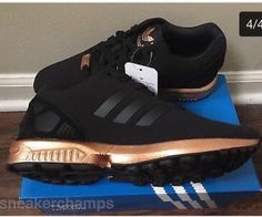 adidas zx flux black metallic copper womens trainers nz