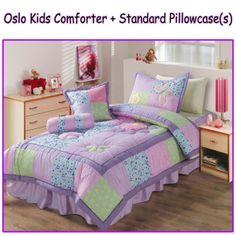 This thick and warm Oslo Kids Comforter Set will add a touch of elegance to your girl's bedroom.