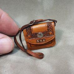 Hand-tooled Celtic Design Dollhouse Miniature by WhitehorseStudio