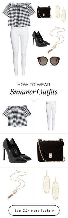 """Summer outfit"" by mvadan on Polyvore featuring H&M, MANGO, Kendra Scott, Yves Saint Laurent, Valentino and STELLA McCARTNEY"