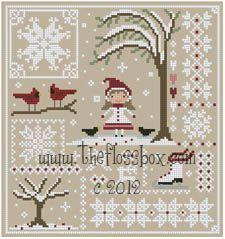 The Floss Box | Snow Sampler Cross Stitch