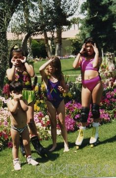 Kim Kardashian Throwback Thursday Pool Kris Jenner Khloe Kourtney