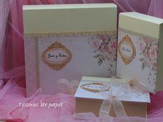 colección de cajas para album digital beig