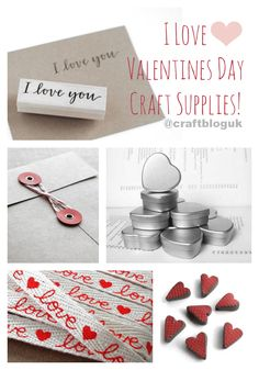 Craft Supplies - valentines day themed!