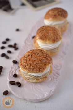 Choux buns filled with Irish cream liqueur & white chocolate mousse
