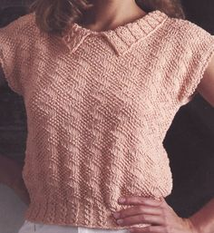 Knitting Patterns Free, Knit Patterns, Free Knitting, Knitting Sweaters, Knit Vest, Knit Fashion, Vintage Knitting, Top Free, Crochet Clothes