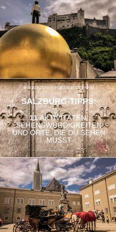 Salzburg, Portal, Taj Mahal, Building, Movie Posters, Travel, Europe, Most Romantic Places, Old Town