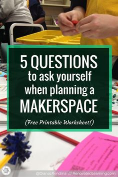 Many educators want to start makerspaces at their schools but aren't sure where to get started. These five questions can help you start the planning process Middle School Libraries, Elementary Library, Elementary Schools, Questions To Ask, This Or That Questions, School Librarian, Stem Projects, Project Based Learning, Scholarships For College
