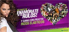 Enamórate de tus rulos con Fructis Rizos Elásticos! Participa aquí http://www.facebook.com/GarnierChile/app_545260765500221