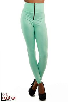 Only Leggings - Mint High Waisted Faux Leather Leggings with Zipper, $36.00 (http://www.onlyleggings.com/mint-high-waisted-faux-leather-leggings-with-zipper/)