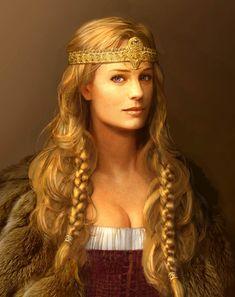 WEALTHEOW Rainha de Hrothgar, foi a líder ideal, pois era ao mesmo tempo versada nas artes mágicas, possuía o dom do aconselhamento e sabia organizar seus guerreiros em batalha. Sua vida heróica foi contada na Beowulf Saga.