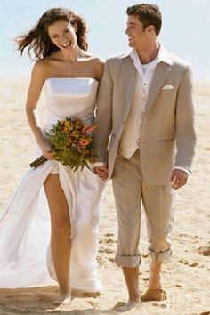 News and Pictures about groom wear for beach wedding Groom Beach Wedding Attire Casual Wedding Suit, Summer Wedding Suits, Mens Beach Wedding Attire, Tan Wedding, Beach Attire, Wedding Ideas, Outfit Beach, Floral Wedding, Perfect Wedding