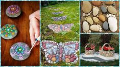 Decoratiuni de gradina din piatra Picnic Blanket, Outdoor Blanket, Outdoor Projects, Outdoor Decor, Landscaping With Rocks, Stone Art, Stepping Stones, Cactus, Projects To Try
