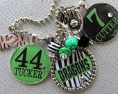 Baseball Mom Personalized Necklace - Custom SPORTS jewelry, Name, Number, Sports Necklace, Softball, All Star , Team Mom, Tournament