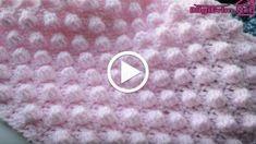 Şiş ile Ponponlu Bebek Battaniyesi Yapılışı Videolu Anlatım