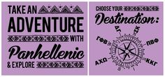 UCR Panhellenic Shirts 2013. Take an Adventure with Panhellenic #PanhellenicRecruitment #SororityRecruitment