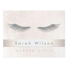 #makeup #artist #makeupartist - #silver eyelashes makeup artist postcard