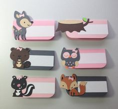 12 Girly woodland Themed Place Card/ Food forest by MiaSophias, $15.00