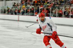 pavel datsyuk at the 2013 detroit red wings training camp #hockey #nhl