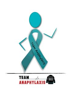 Team Anaphylaxis - Teal Ribbon Lady Food allergy awareness is a daily walk.