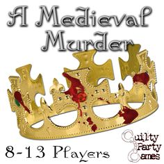 "The King of Adwarn is murdered in his own castle, but who committed the crime?  Was it his daughter and heir to the throne, the local Mystic, a vengeful servant, or the mysterious visitors from another Kingdom?   Find out with your friends when you become part of ""A Medieval Murder"""