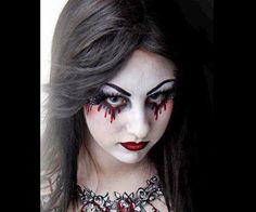 Uber Gothic. #facepaint #Halloween
