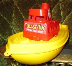 Vintage 1977 Tuggsy Tug Toot Float Toy Boat, Plastic by FriendsRetro on Etsy