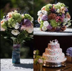 Wedding flowers by Fabulous Flowers, Oxford. Cake by my sister. Photos by Polly and Simon http://www.pollyandsimon.com/
