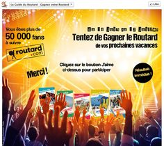 Guide du Routard - Facebook Instant Win #Socialshaker