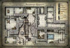 Redbrand Hideout - Mapa dos Jogadores