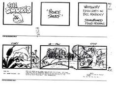 Image result for smurfs storyboard Star Wars Clone Wars, Gi Joe, Storyboard, Movie Stars, Smurfs, Animation, Image, Army, Anime