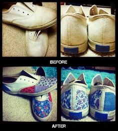 rooted in His grace.: D.I.Y. Shoe Redo