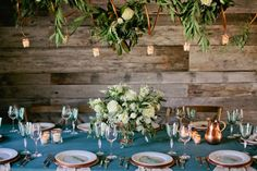 Rustic Copper Accents Reception Decor   photography by http://www.kristynhogan.com