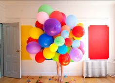 giant bunch of balloons