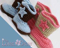 Botas camperas Crochet patrón para arranque por TheLovelyCrow