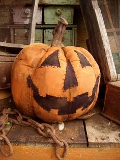 crisp-air-fallen-leaves:  Stitched pumpkin   via Tumblr on We Heart It.
