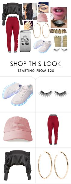 """Baddie"" by janielproperty on Polyvore featuring Huda Beauty, Anthony Vaccarello and Jennifer Fisher"