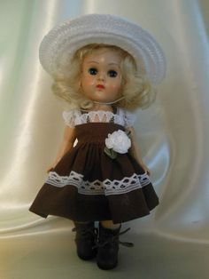 Hat and dress for Ginny or Muffy dolls on my ebay