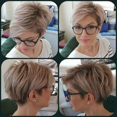 Modern Short Hairstyles, Short Hair Styles Easy, Easy Hairstyles For Long Hair, Short Hair Cuts, Bob Hairstyles, Curly Hair Styles, Hairstyle Short, Pixie Cuts, Hairstyle Ideas