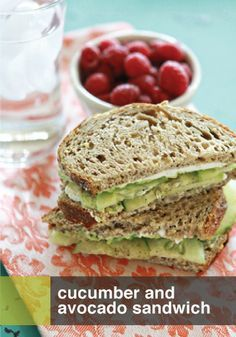 Need something light and tasty? Try this cucumber and avocado sandwich recipe!