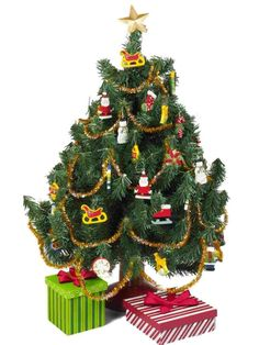 """18"""" DOLL CHRISTMAS TREE, PACKAGES & ORNAMENT SET Accessories for American Girl in Dolls & Bears, Dolls, Clothes & Accessories 