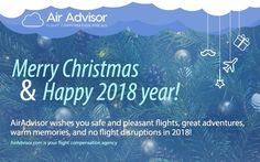 Merry Christmas and happy holidays! Flight Compensation, 2018 Year, Greatest Adventure, Happy Holidays, Wish, Merry Christmas, Memories, Merry Little Christmas, Happy Merry Christmas