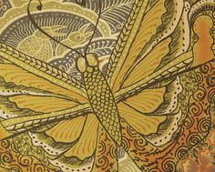 "ethnic butterfly"" Painting art prints and posters by FORT bee ..."