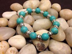 Strech beaded bracelet  by CrystallsTreasures on Etsy