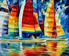 Leonid Afremov Sails