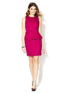 Camille Peplum Lace Dress by Cynthia Steffe on Gilt.com