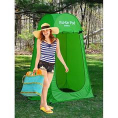 GigaTent Pop Up Pod Changing Room Privacy Tent – Instant Portable Outdoor Shower Tent, Camp Toilet, Rain Shelter for Camping & Beach – Lightweight & Sturdy, Easy Set Up, Foldable - with Carry Bag Family Camping, Tent Camping, Camping Gear, Camping Hacks, Camping Stuff, Backpacking, Camping Spots, Couples Camping, Backyard Camping