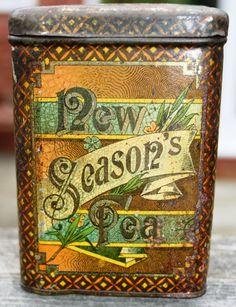 Delightful 'New Season's Tea' Victorian tea caddy by Tinternet